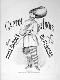 cover of song sheet, Captin' Jinks of the Horse Marines